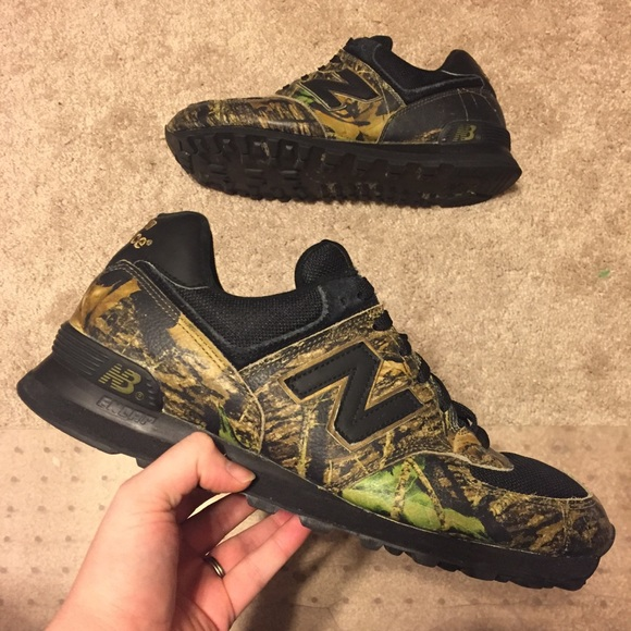 timeless design bacb8 aa4a0 New Balance 574 Woodland Camo Limited Edition 12